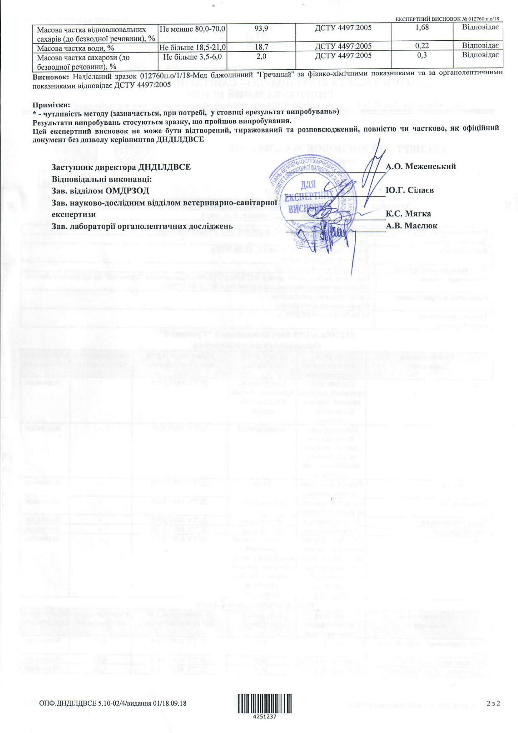 Експертний висновок на мед Гречаний-2-1653x2339