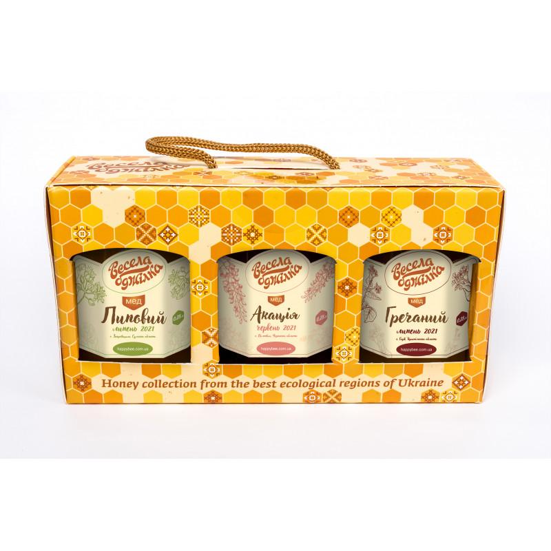 """Подарунковий набір меду """"Для Гурманів"""""""